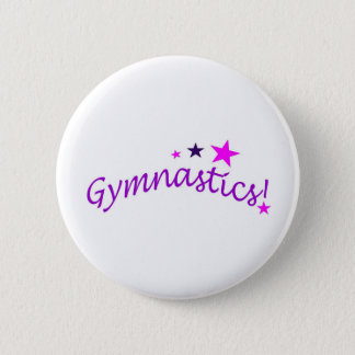Gymnastics Arched with Stars 6 Cm Round Badge