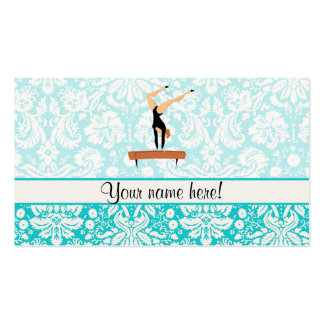 Gymnastics Balance Beam Business Card