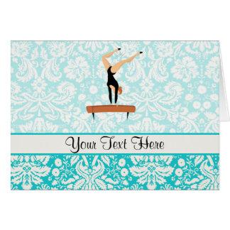 Gymnastics Balance Beam Card