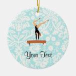 Gymnastics Balance Beam Christmas Ornaments