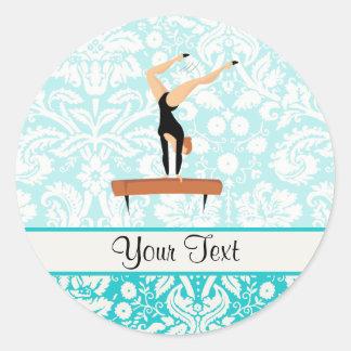 Gymnastics Balance Beam Round Stickers