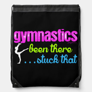 Gymnastics - Been there stuck that.... Drawstring Bag