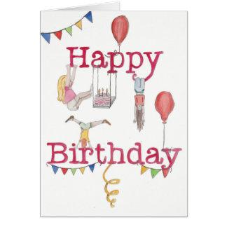 Gymnastics Birthday card