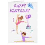 Gymnastics birthday card personalised