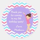 Gymnastics Birthday Favour Stickers