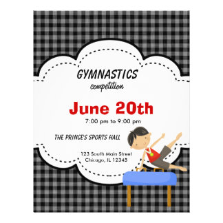 Gymnastics Boy Competition (Black) 21.5 Cm X 28 Cm Flyer