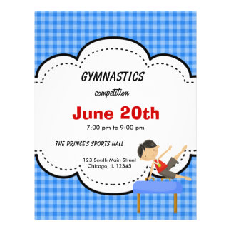 Gymnastics Boy Competition (Blue) 21.5 Cm X 28 Cm Flyer