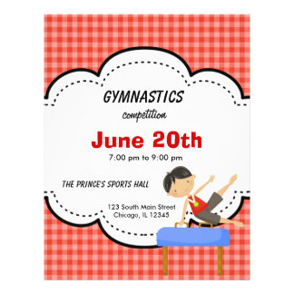 Gymnastics Boy Competition (Red) 21.5 Cm X 28 Cm Flyer