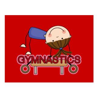 GYMNASTICS - Brunette Girl Balance Beam t-shirts Postcard