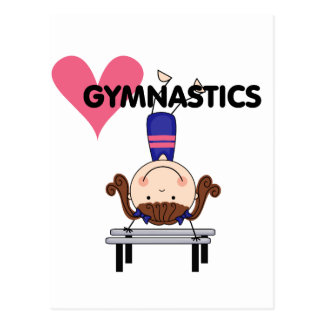 GYMNASTICS - Brunette Girl Handstands Postcard