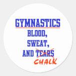 Gymnastics BS&C Round Sticker