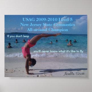 Gymnastics Champion Poster