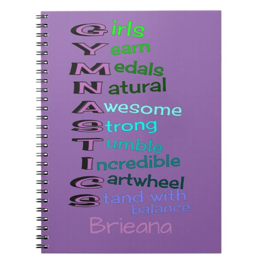 Gymnastics (change name) spiral notebook