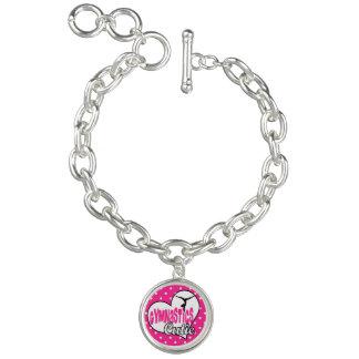 Gymnastics charm bracelet Gymnastics cutie