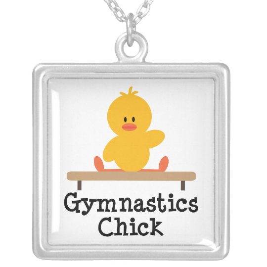 Gymnastics Chick Sterling Silver Necklace