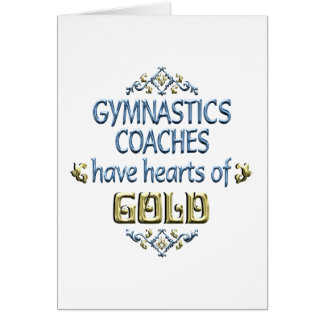 Gymnastics Coach Appreciation Card