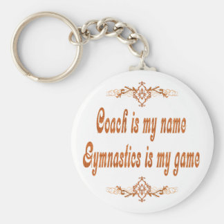 Gymnastics Coach Basic Round Button Key Ring