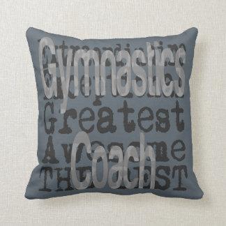 Gymnastics Coach Extraordinaire Throw Pillow