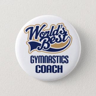 Gymnastics Coach Gift 6 Cm Round Badge