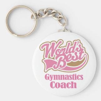 Gymnastics Coach Gift Basic Round Button Key Ring