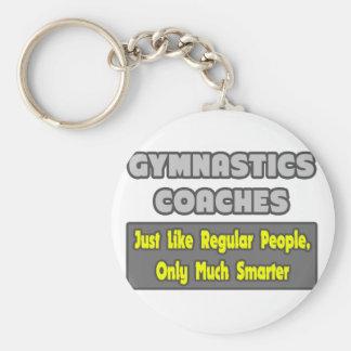 Gymnastics Coaches ... Smarter Basic Round Button Key Ring
