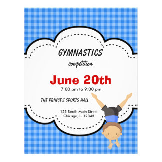 Gymnastics Competition 21.5 Cm X 28 Cm Flyer