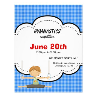 Gymnastics Competition (Blue) 21.5 Cm X 28 Cm Flyer