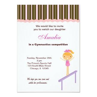 Gymnastics Competition Card