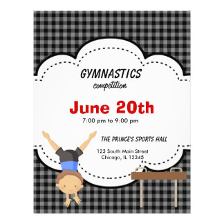 Gymnastics Competition Flyers