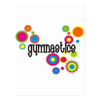 Gymnastics Cool Polka Dots Postcard