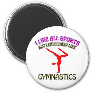 Gymnastics designs magnet