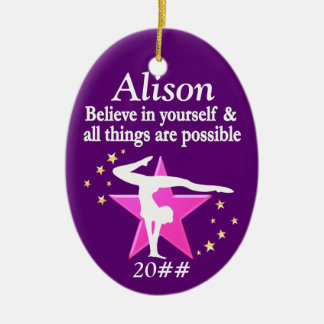 GYMNASTICS DREAMS PERSONALIZED ORNAMENT