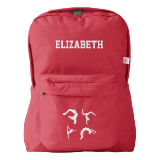 Gymnastics Exercise Name Customized Backpack