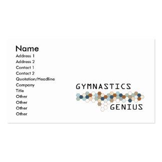 Gymnastics Genius Business Card Template