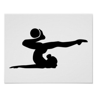 Gymnastics girl ball poster