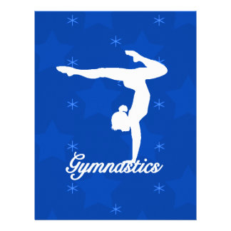 Gymnastics Girl Blue Stars 21.5 Cm X 28 Cm Flyer