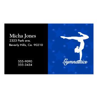 Gymnastics Girl Blue Stars Pack Of Standard Business Cards