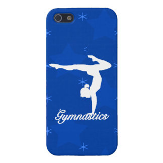 Gymnastics Girl Blue Stars Case For The iPhone 5
