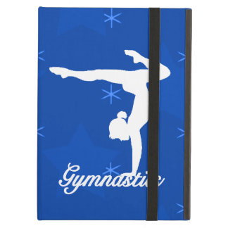Gymnastics Girl Blue Stars iPad Air Cover