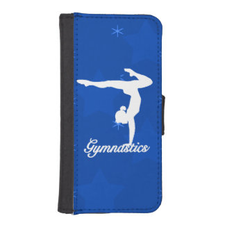 Gymnastics Girl Blue Stars iPhone SE/5/5s Wallet Case