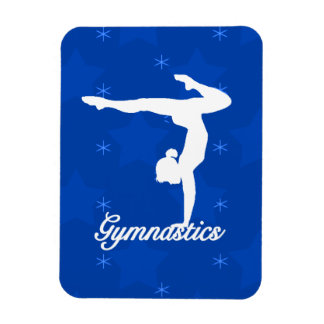 Gymnastics Girl Blue Stars Magnet