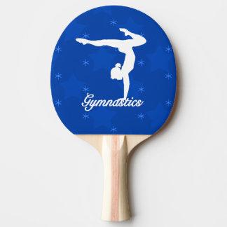 Gymnastics Girl Blue Stars Ping Pong Paddle