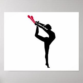 Gymnastics girl poster
