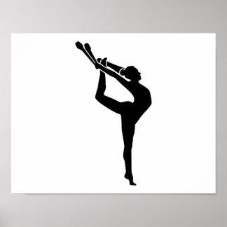 Gymnastics girl woman poster