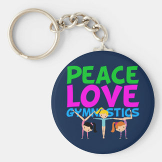 Gymnastics Girls Key Ring
