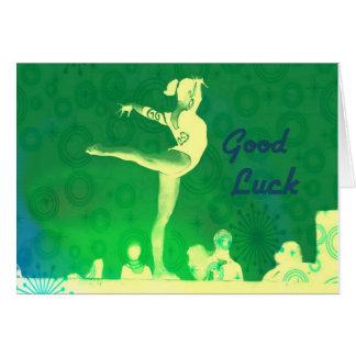 Gymnastics Good Luck Card