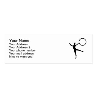 Gymnastics gymnast business card template