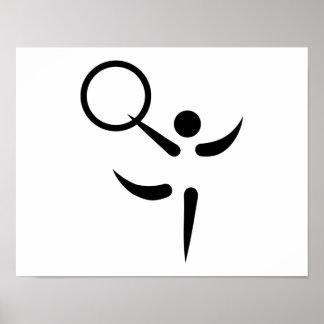 Gymnastics hoop poster