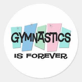 Gymnastics Is Forever Classic Round Sticker