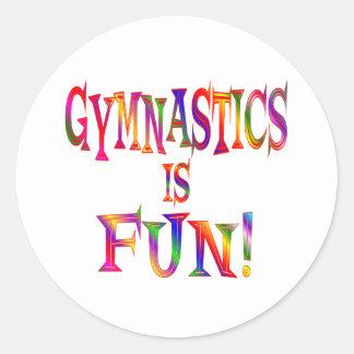 Gymnastics is Fun Sticker